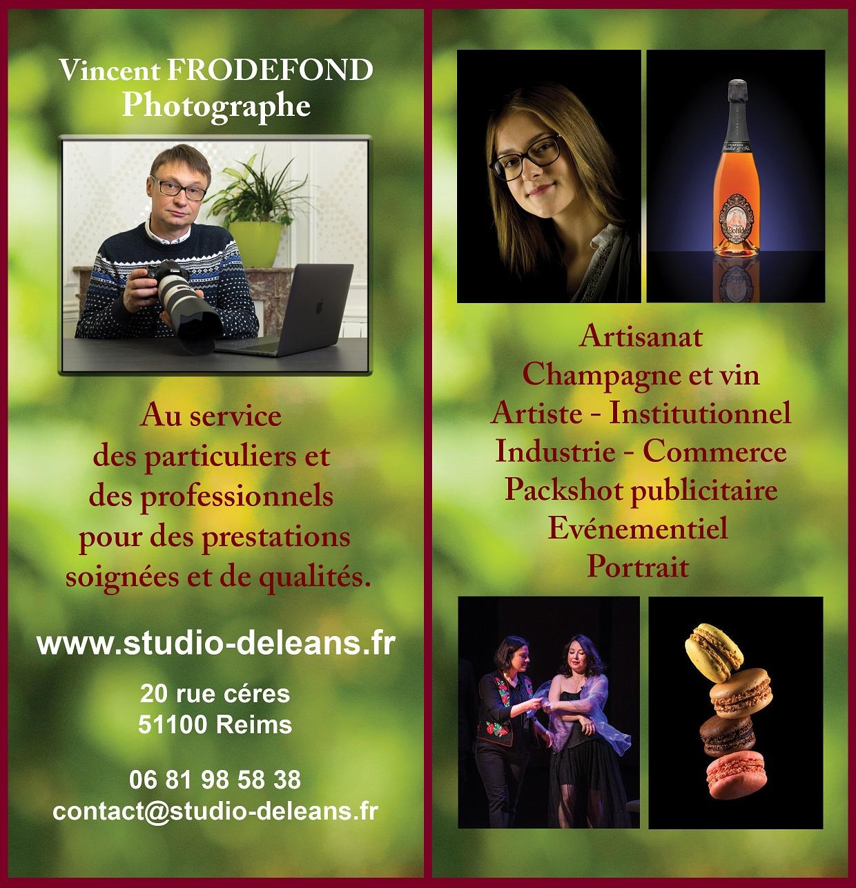 Studio photos Deléans Reims - Vincent Frodefond